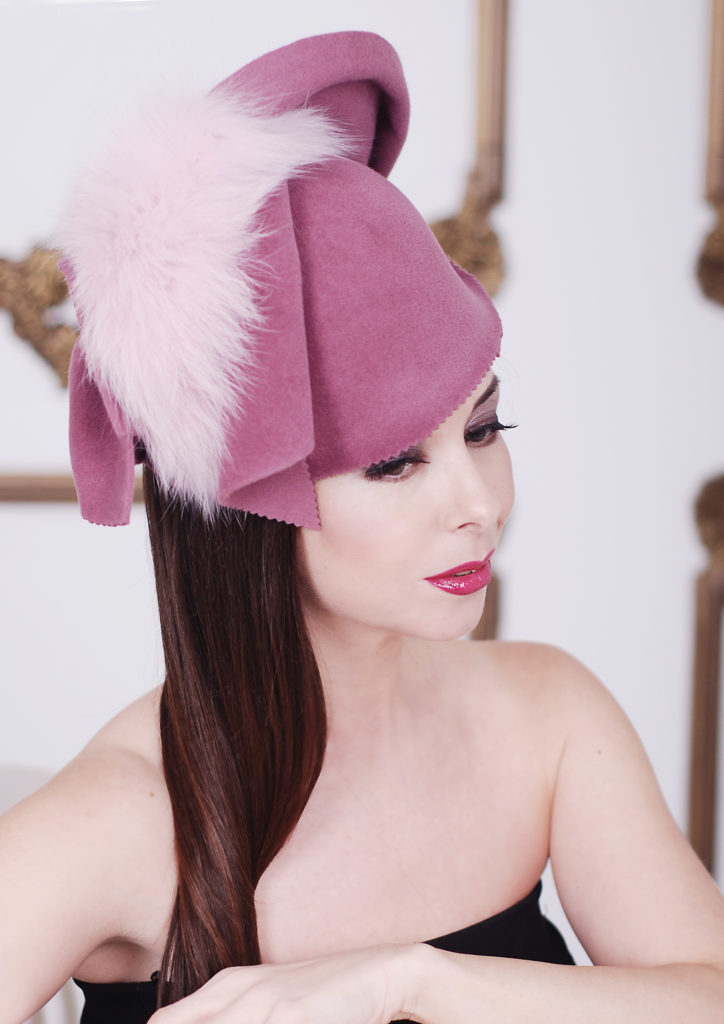 designer fur hat